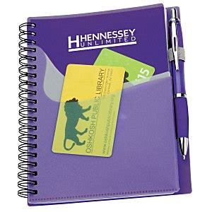 imprintcom  wave pocket notebook  ballpoint