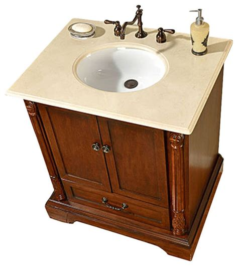 32 inch traditional single sink bathroom vanity