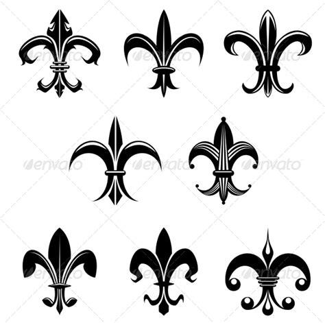 decorative symbols royal lily by vectortradition graphicriver