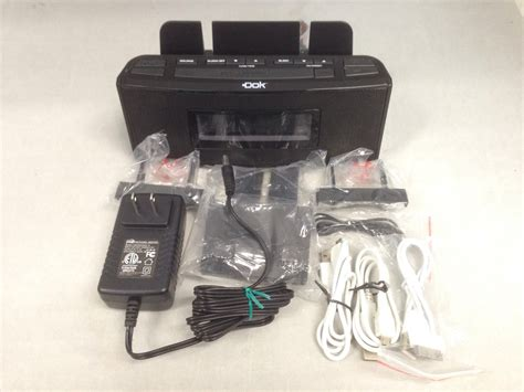 Speaker Cr 18 dok cr18 3 port smart phone charger with speaker and alarm