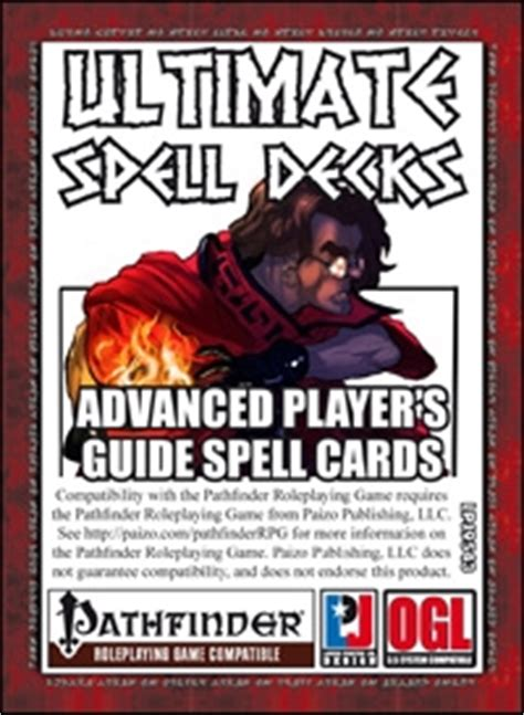 pathfinder roleplaying advanced player s guide ultimate spell decks advanced player s guide spell cards