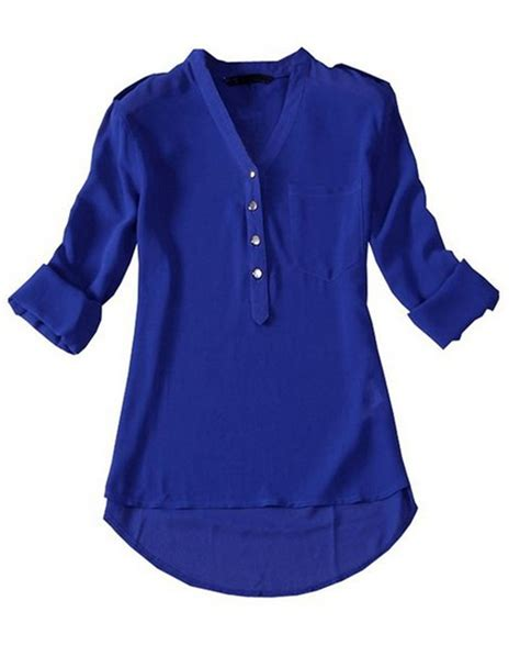 Blouse Blue womens navy blue blouse clothing