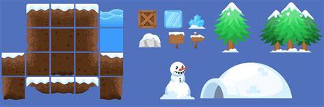 winter platformer game tileset opengameartorg