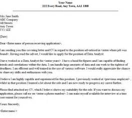Cover Letter For Data Analyst data analyst cover letter sle lettercv