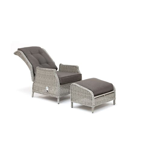 Kettler Jarvis Recliner Kettler Jarvis Recliner With Footstool White Wash Inc Taupe Cushions