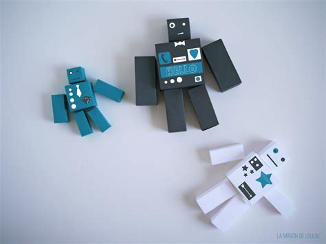 How To Make A Paper Robot That - free cube templates for the diy paper robots