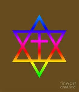 Holiday Duvet Cover Rainbow Messianic Judaism Symbol Digital Art By Frederick