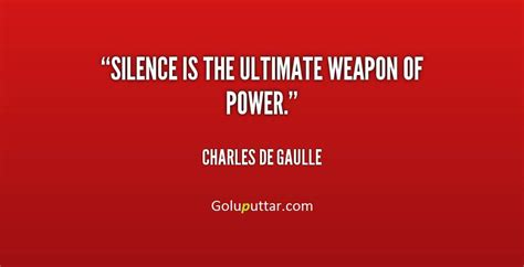 trendy silence quote about best weapon of power photos