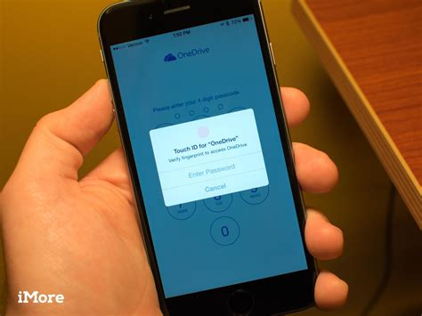 microsoft onedrive adds touch id iphone 6 and 6 plus support imore
