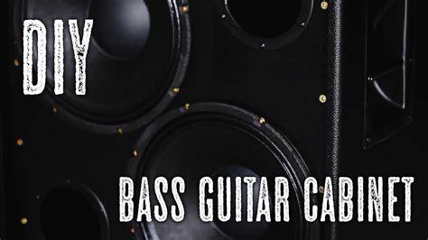 diy  bass guitar cabinet youtube