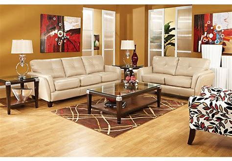 rooms to go living room sets shop for a cindy crawford home san sorrento latte leather