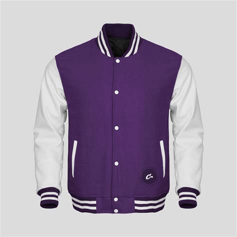 design your varsity jacket online white faux leather sleeves purple wool varsity jacket