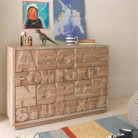 kids bedroom letters alphabet chest of drawers children s room storage ideas
