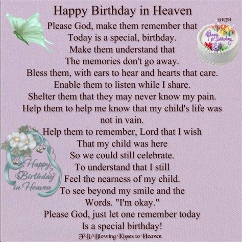 Happy Birthday Quotes For Someone In Heaven Happy Birthday In Heaven Memorials Share Grieving