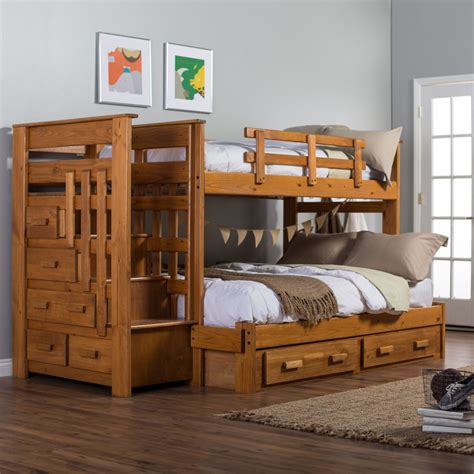bunk beds twin over full kids furniture ideas