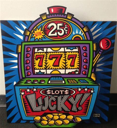 slot machine blue popout  burton morris