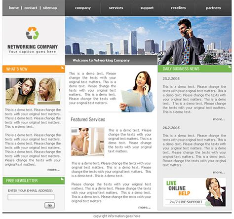Conference Website Template 0445 Communications Website Templates Dreamtemplate Conference Website Template Free