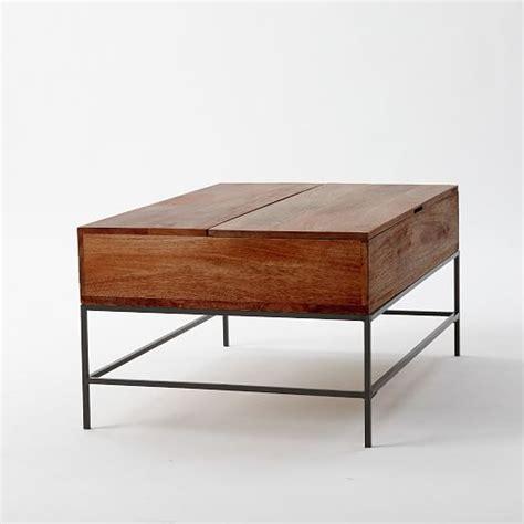 storage coffee table west elm industrial storage coffee table west elm