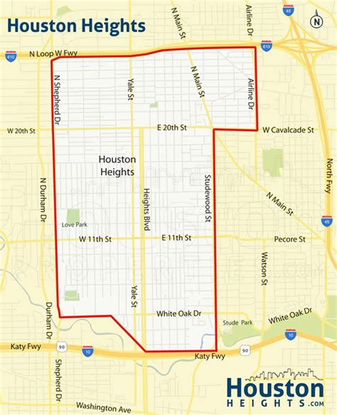 houston real estate map martin guide houston heights inner neighborhood map