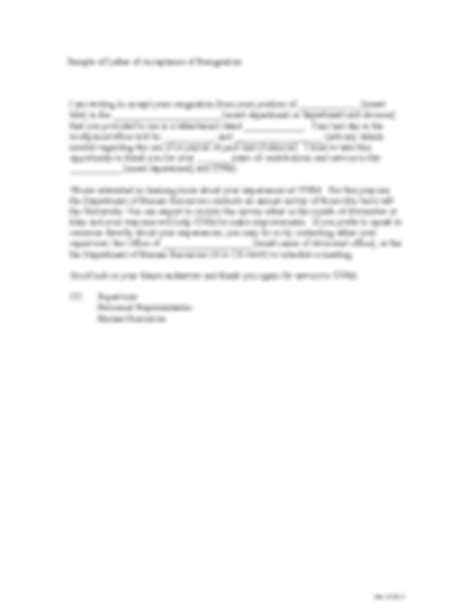 Exle Acceptance Letter Of Resignation Resignation Letter Sles 11 Free Templates In Pdf Word Excel