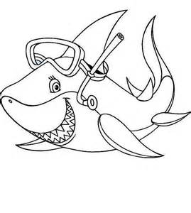 Cool Shark Coloring Pages sketch template