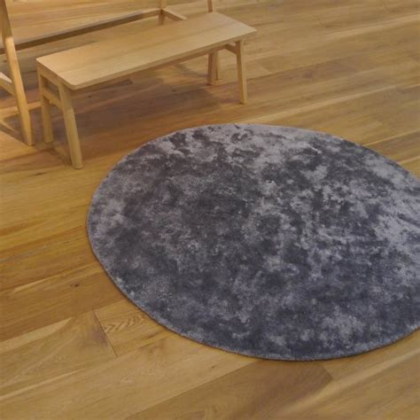 Tapis Rond Poil by Tapis Rond Poils Courts Anthracite Pilepoil Pour Chambre