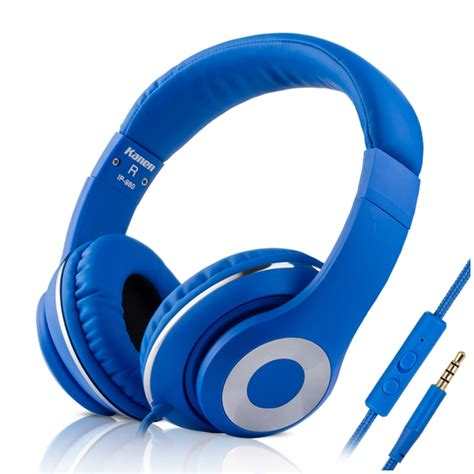 Kanen Ip 980 Hitam Headset kanen ip 980 fashion blue ear bass headphones