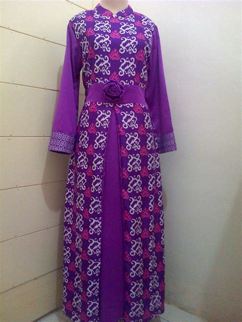 Gamis Satin 52 best gamis batik images on styles dress muslimah and moslem fashion