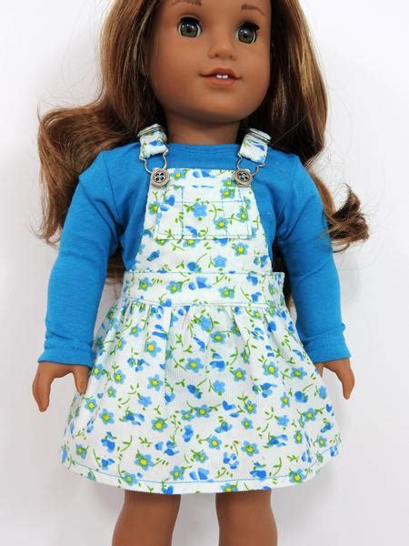 Kyebae Ag Overall Poket Pink 18 Inch Doll Clothes Ag Doll Dress Trendy Overall Dress