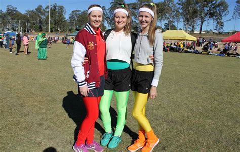 swimming carnival themes yellow emmaus students sport fun outfits at athletics carnival