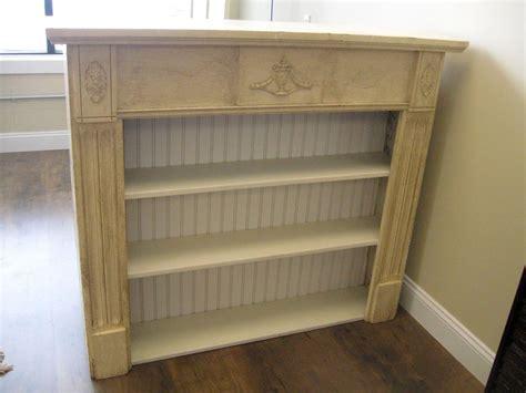 primitive antique repurposed fireplace mantel shelf bookcase free farm mantel