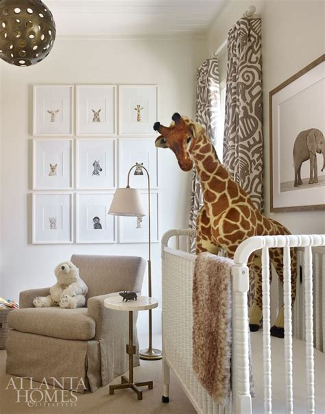 the safari inspired nursery pays homage to the s