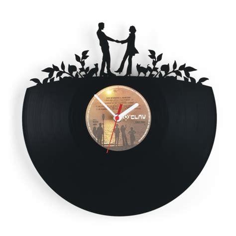 design ideas vinyl records decorative wall clocks featuring designs cut into old