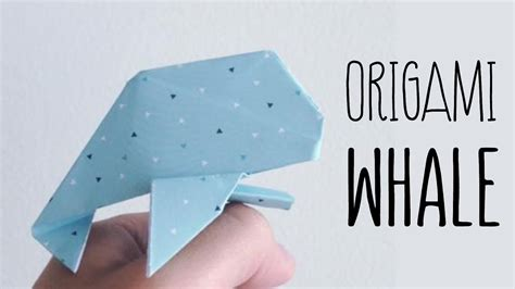 origami whale tutorial origami whale anh dao diagram youtube