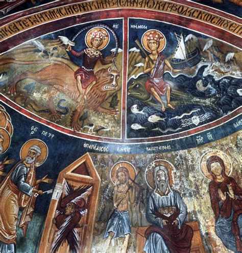 Murals Wall cyprus asinou church of our lady of the pasture the
