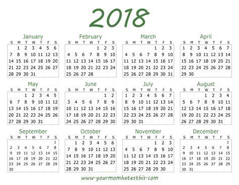 Calendar For 2018 Calendar Quality Calendars