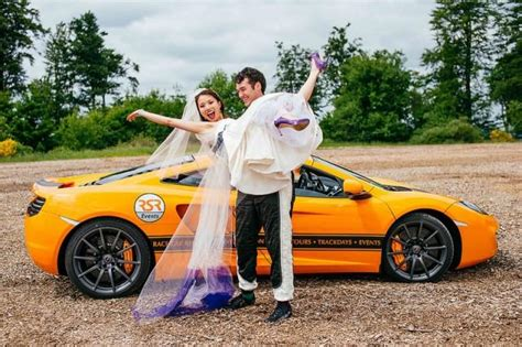 Wedding Car Track by Get On Track With Joanne Jeff S Race Car Wedding With