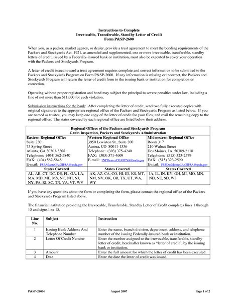 Bank Standby Letter Of Credit Top Essay Writing Application Form Letter Of Credit