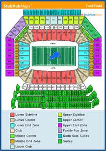 Ford Field Seat Map Ford Field Seating Chart Pictures Directions And