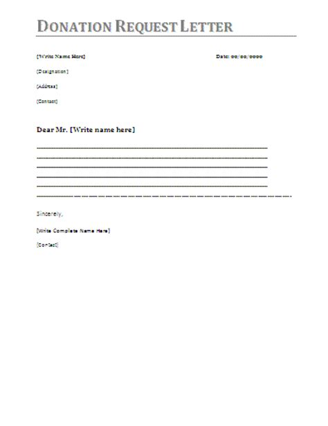 Charity Letter Template Donation Donation Letter Template 12 Items To Include In Donation