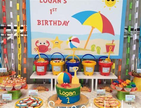 birthday themes summer beach theme birthday quot logan s first birthday beach party