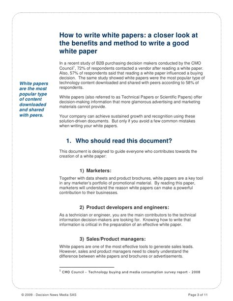 Decision Paper - how to write a white paper