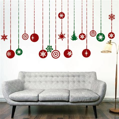 christmas hanging ornament wall decals trendy wall designs