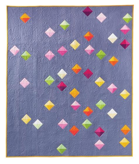 floating prisms free pattern robert kaufman fabric company