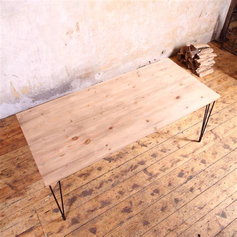 industrial hairpin leg desk hairpin legs industrial style dining by cosywood