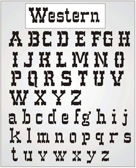 printable western font letters stencil kingdom