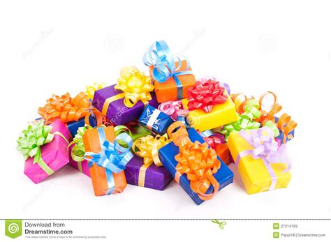 photo presents colorful birthday presents royalty free stock images