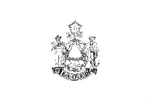 Maine State Flag Coloring Page Maine State Flag Coloring Page