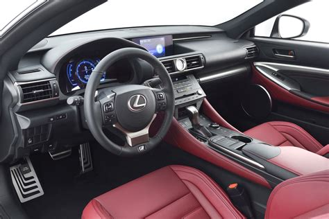 lexus rc f red interior lexus rc f sport interior