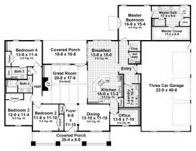 2800 Sq Ft House Plans craftsman style house plan 4 beds 3 5 baths 2800 sq ft